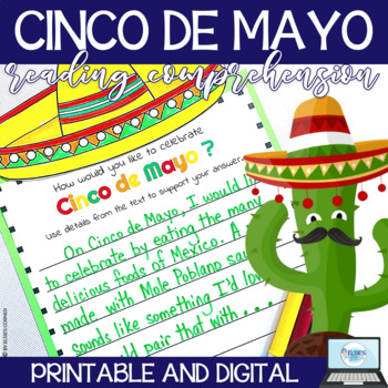 Cinco De Mayo Reading Comprehension - Informational Text - Assessent 3-5