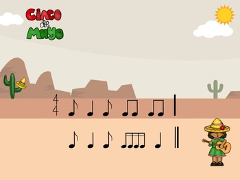 Cinco De Mayo - A Rhythm Game for Practicing Syn-co-pa (2 bars)