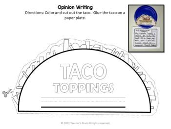 Cinco De Mayo Activities - Opinion Writing - Craftivity Kindergarten 1st Grade