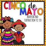 Cinco-De-Mayo Addition & Subtraction Color-By-Number