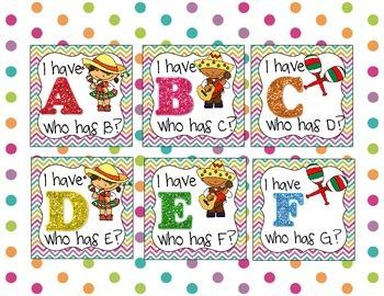 Cinco De Mayo Alphabet Games