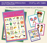 Cinco De Mayo Bingo & Memory Game, 2 in 1 Cinco De Mayo Games