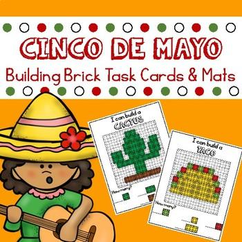 Cinco De Mayo Building Brick Mats and Task Cards
