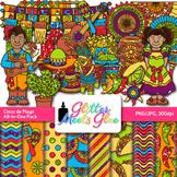 Cinco De Mayo Clip Art, Frames, & Scrapbook Paper {Great for Spanish Activities}