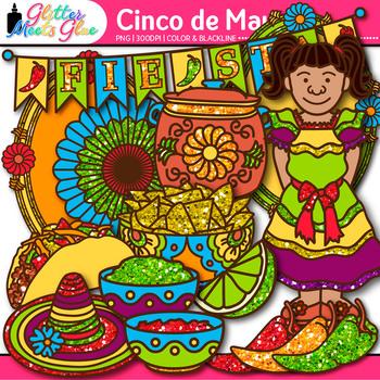 Cinco De Mayo Clip Art: Spanish Holiday Graphics {Glitter Meets Glue}