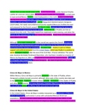 Cinco De Mayo Close Guided Highlighted Reading Common Core