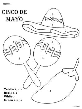 Cinco De Mayo Color By Number 1-10