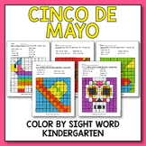 Cinco De Mayo Color By Sight Word, Cinco De Mayo Activitie