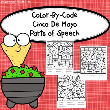 Cinco De Mayo-Color by Code-Parts of Speech
