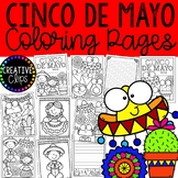 Cinco De Mayo Coloring Pages (+writing paper) {Made by Creative Clips Clipart}