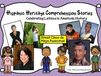Cinco De Mayo Comprehension Stories for..Hispanic Heritage & Latinos in History)