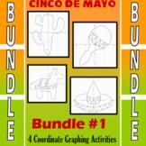Cinco de Mayo - 4 Coordinate Graphing Activities - Bundle