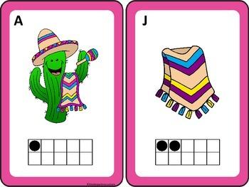 Cinco De Mayo Count the Room 1-10 and 11-20 Ten Frames