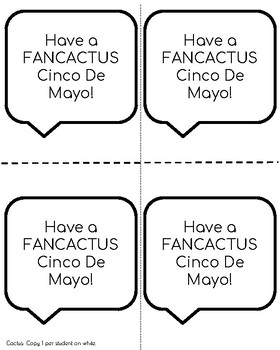 Cinco De Mayo Craft: Cactus (May 5th)