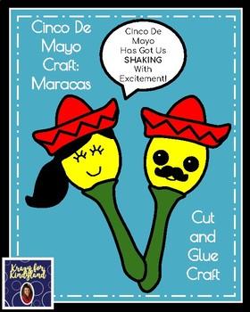 Cinco De Mayo Craft for Kindergarten: Maracas (May 5th)