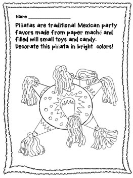 Cinco de Mayo Craftivity Packet