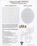Cinco De Mayo Crossword Wordsearch Maze