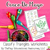 Cinco De Mayo Day Classifying Triangles Math Worksheet Activity Packet No Prep
