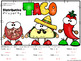 Mexican Food - Cinco De Mayo Distributive Property Color By Number Worksheet