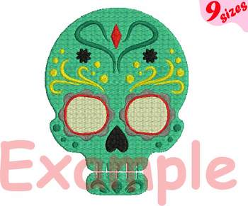 Cinco De Mayo Embroidery Design 4x4 5x7 hoop Fiesta Mexico skull head 128b