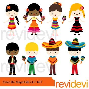 Cinco De Mayo Kids Clip Art