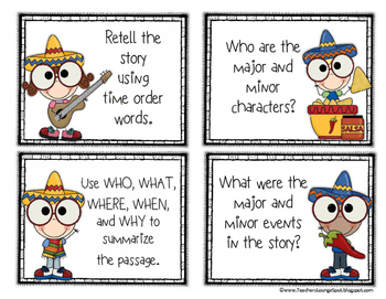 Cinco De Mayo Literacy & Math Task Cards