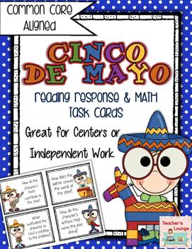Cinco De Mayo Literacy & Math Task Cards