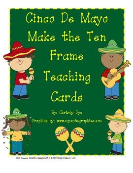 Cinco De Mayo Make the Ten Frame Teaching Cards