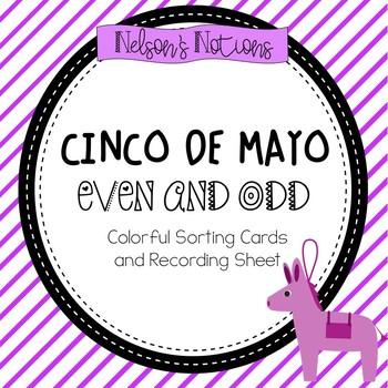 Cinco De Mayo - Math Activity {Even and Odd Sort}