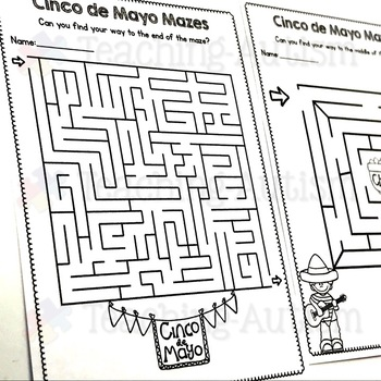 Cinco De Mayo Maze Worksheets