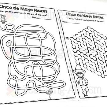 Cinco de Mayo Maze Worksheets