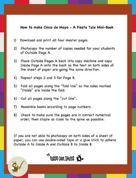 Cinco De Mayo Mini Book - A Fiesta Tale