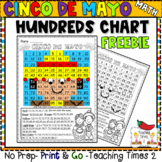 Cinco De Mayo Freebie Mystery Picture - Hundreds Chart Fun