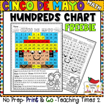 Cinco De Mayo Freebie Mystery Picture - Hundreds Chart Fun