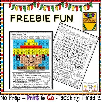 Cinco De Mayo Hundreds Chart | FREEBIE