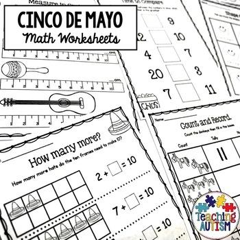 Cinco De Mayo Math Worksheets