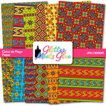 Cinco De Mayo Paper {Mexican Scrapbook Backgrounds for Classroom Resources}