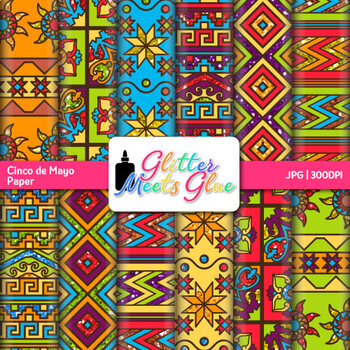 Cinco De Mayo Scrapbook Paper: Aztec Backgrounds {Glitter Meets Glue}