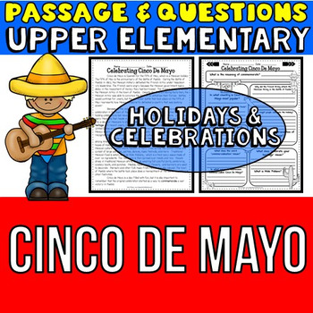 Cinco De Mayo: Passage and Questions: Reading Comprehension Activity
