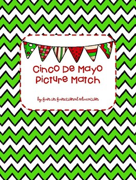 Cinco De Mayo Picture Match File Folder Game