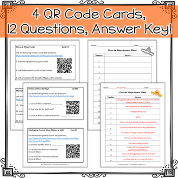 Cinco De Mayo Qr Code Activity By Fourth And Fritcher Tpt