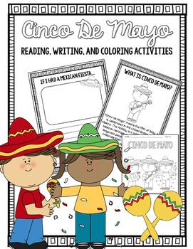 Cinco De Mayo Reading, Writing, Coloring Activities