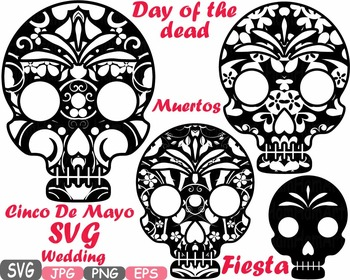 Cinco De Mayo SVG Props Fiesta Mexico Halloween Day of the dead Clipart SVG 469S