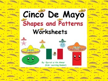 Cinco De Mayo Shapes and Patterns Worksheets: