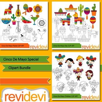 Cinco De Mayo Special Clip Art Bundle 3 Packs By Revidevi Tpt