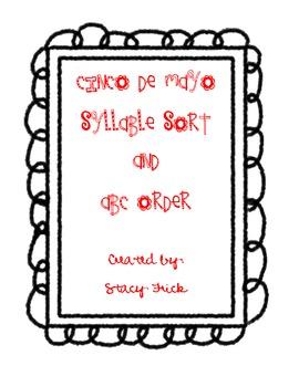 Cinco De Mayo Syllable Sort and ABC Order