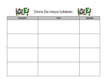 Cinco De Mayo Syllables - Common Core