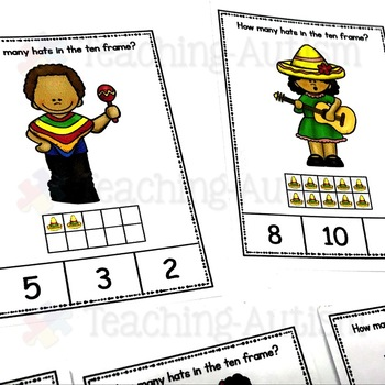 Cinco De Mayo Ten Frame Task Cards