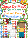 Cinco De Mayo Themed Numbers Cut and Paste Worksheets (1-20):