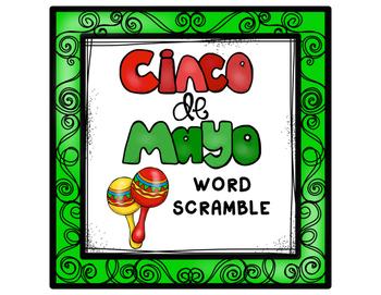 Cinco De Mayo Word Scramble by TN Teacher | Teachers Pay ...